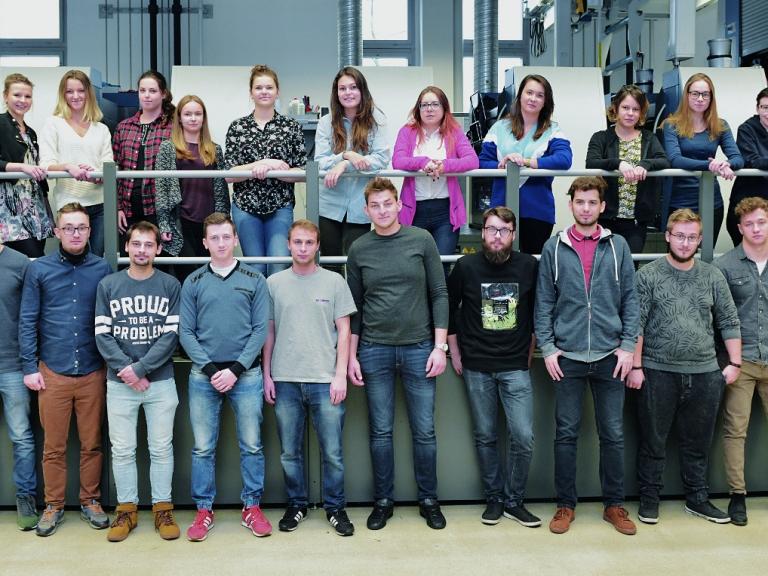 Studenti polských polygrafických škol v Radebeulu