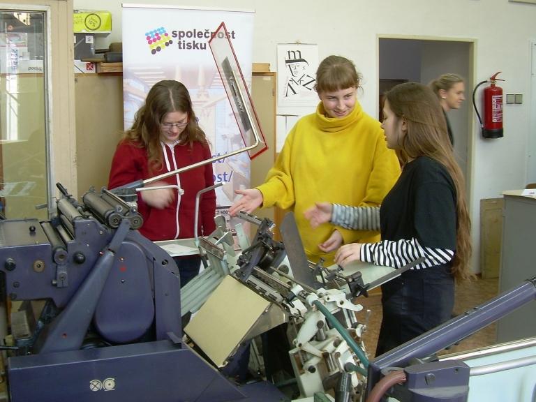 Workshop knitisku na Grafické škole v Praze