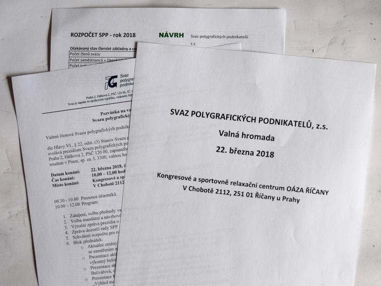 Valná hromada Svazu polygrafických podnikatelů z.s.
